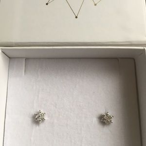 Jewelry - white gold & genuine diamond earrings